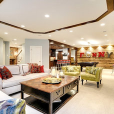 Transitional Living Room by Great Neighborhood Homes