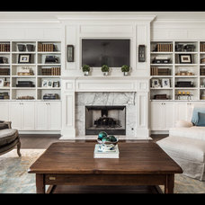 Traditional Living Room by Fox Group Construction