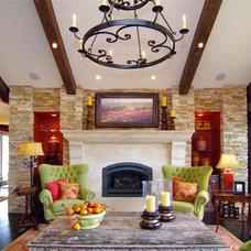 Living Room by GJ Gardner Custom Homes, Boerne Texas