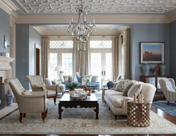 Traditional Living Room by Rinfret, Ltd.