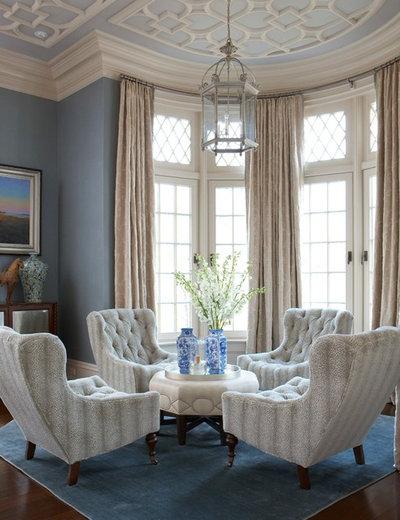 Transitional Living Room by Rinfret, Ltd.