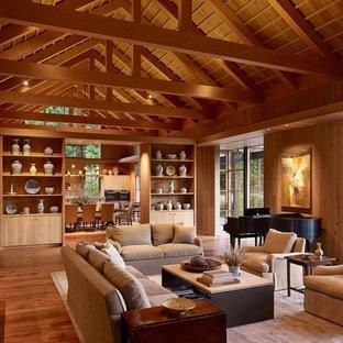 Living room - cottage living room idea in Portland