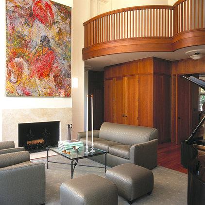 Traditional Living Room by Johnson Berman