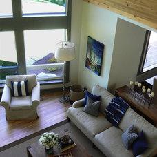 Transitional Living Room by Kimberley Morris Interior Design