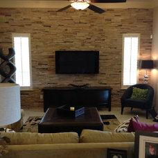 Transitional Living Room by ASL Design