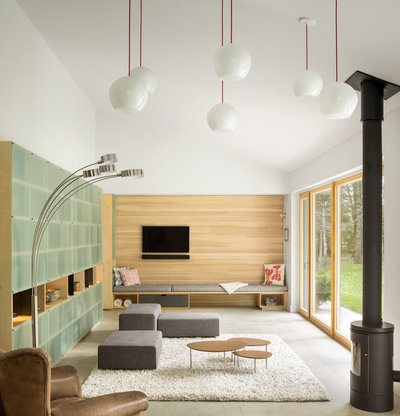 Room Of The Day: Custom Storage Supports A Minimalist Living Room