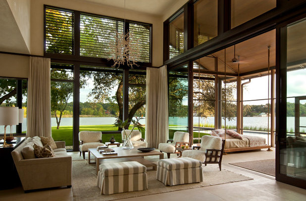 Contemporary Living Room by Furman + Keil Architects