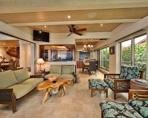 Covered lanai houzz for Small lanai decorating ideas