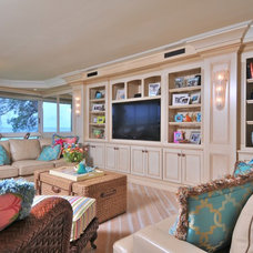 Tropical Living Room by Edgewater Contractors Inc