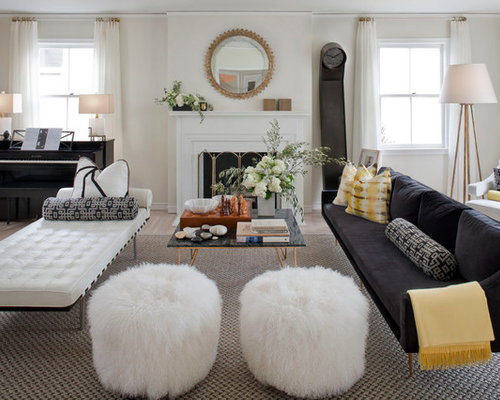Inspiration for a large eclectic living room remodel in San Francisco ...