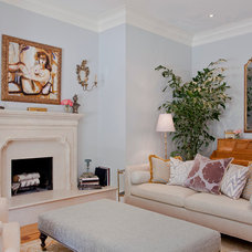 Traditional Living Room by Melanie Stewart Interior Design