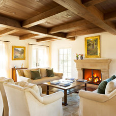 Mediterranean Living Room by Thompson Naylor Architects Inc