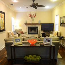 Contemporary Living Room by Kara Mosher