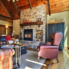 Rustic Living Room by Melyssa Robert Designer