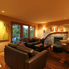 Traditional Living Room by My House Design Build Team