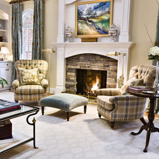 Traditional Living Room by Kirsten Nease Designs