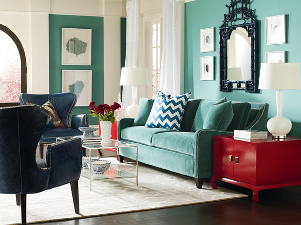 Transitional Living Room CR Laine Furniture - Lifestyle Images