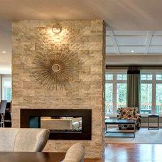 Transitional Living Room by Ardington and Associates Design Inc.