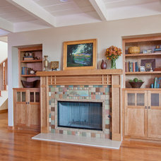 Craftsman Family Room by Emily Renze Design