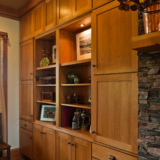 Craftsman Built-in Bookcase and Entertainment Center