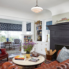 Transitional Living Room by Lewin Wertheimer