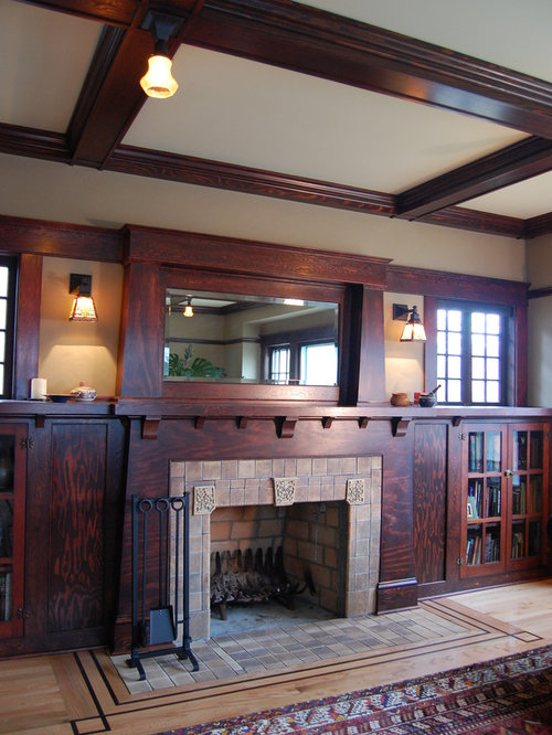 Renovation of 1920 39 s bungalow living room design ideas for Craftsman style living room ideas