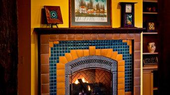 Custom Arch Fireplace