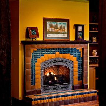 Craftsman Fireplace - Custom Arch