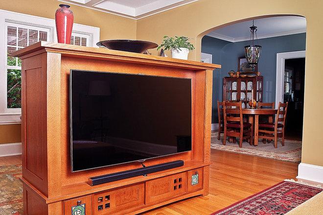 Craftsman Living Room by Tamara Heather Interior Design, LLC