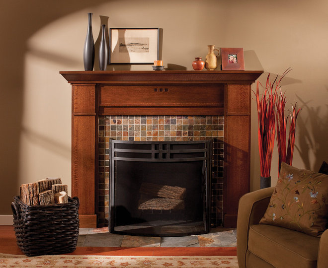 Craftsman Living Room by Dura Supreme Cabinetry