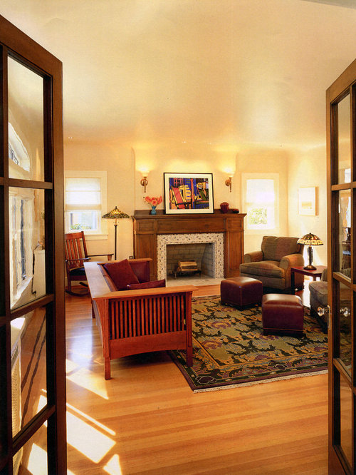 Craftsman fireplace ideas pictures remodel and decor for Mission style decorating living room