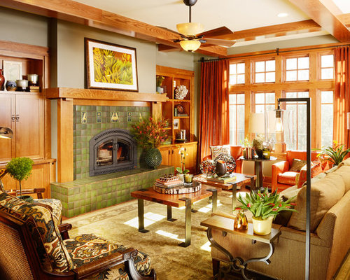 Craftsman living room design ideas pictures remodel decor - Craftsman living room decorating ideas ...