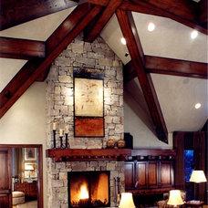Craftsman Living Room by Palmer Interior Design
