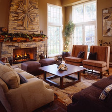 Traditional Living Room by Sarah Barnard Design
