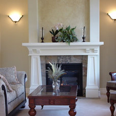 Craftsman Living Room by Hazelmere Mantel