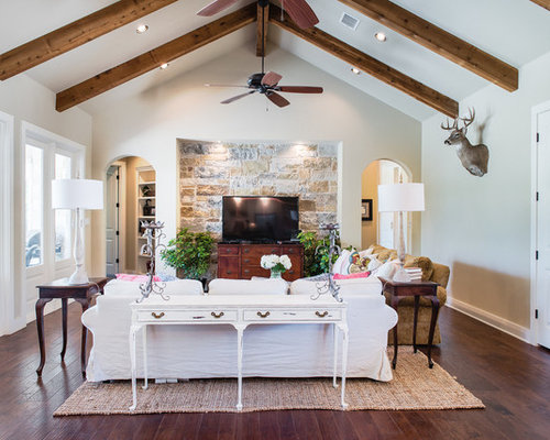 Arts and crafts white living room design ideas for Arts and crafts living room ideas