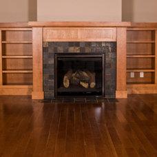 Craftsman Living Room by Acker Builders, Inc.