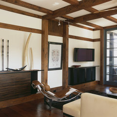 asian living room by Gardner Mohr Architects LLC
