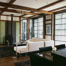 Craftsman Living Room by Gardner Mohr Architects LLC
