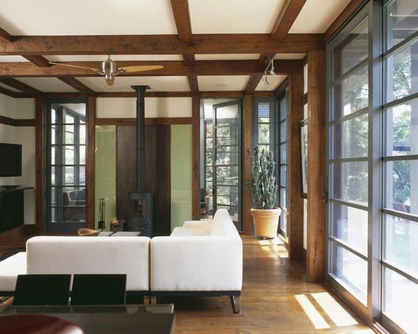 Craftsman Living Room by Gardner Mohr Architects LLC
