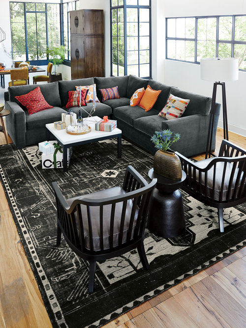 Crate and barrel axis sectional houzz Crate and barrel living room chairs