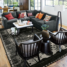 Eclectic Living Room by Crate&Barrel