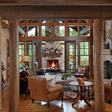 Traditional Living Room by Modern Rustic Homes