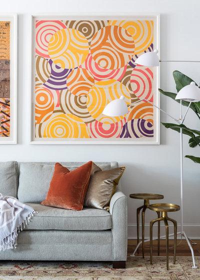 Transitional Living Room by Valerie Legras Atelier