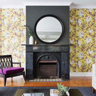 Example Of An Arts And Crafts Living Room Design In Sydney
