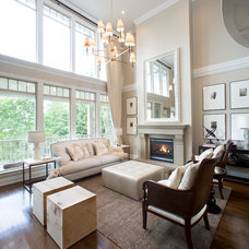 Transitional Living Room by Kelly Deck Design