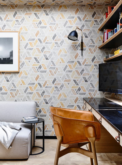 Eclectic Living Room by Atticus & Milo