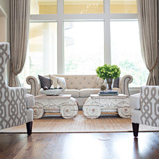 Traditional Living Room by Amanda Carol Interiors
