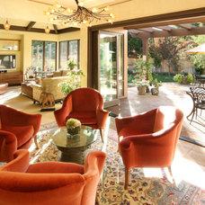 Mediterranean Living Room by Ekman Design Studio