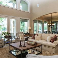 Contemporary Living Room by Crimson Design Associates